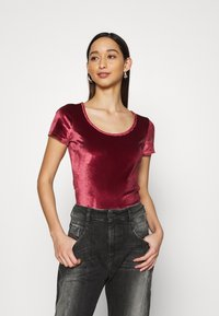 Hollister Co. - SCOOP BODYSUIT - Basic T-shirt - burgundy - 0