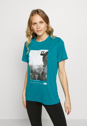 WOMAN DAY TEE - T-shirt med print - jaiden green