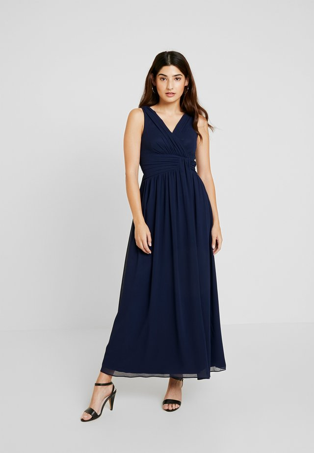 DARCY DRAPE DETAIL DRESS - Galajurk - navy