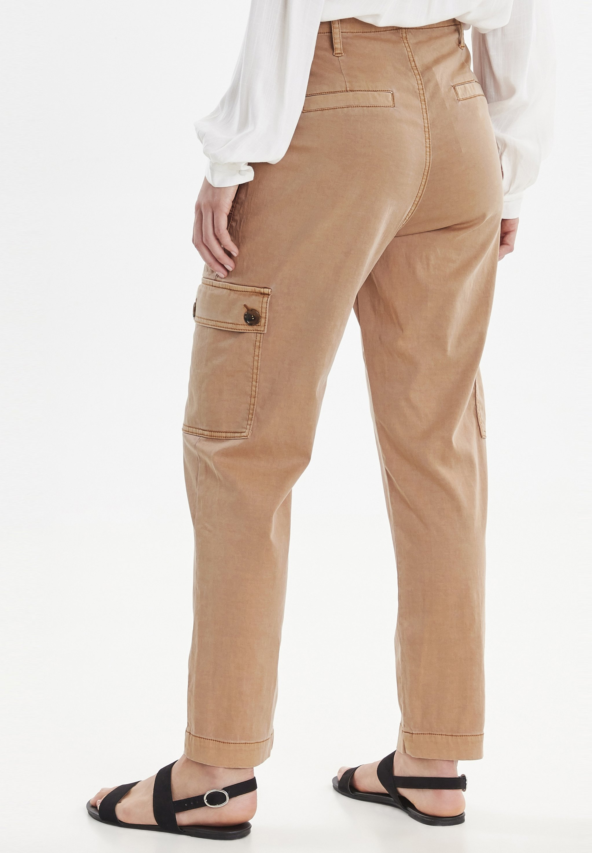 b.young Pantalon classique - safari brown - Pantalons & Leggings Femme 1w2tB