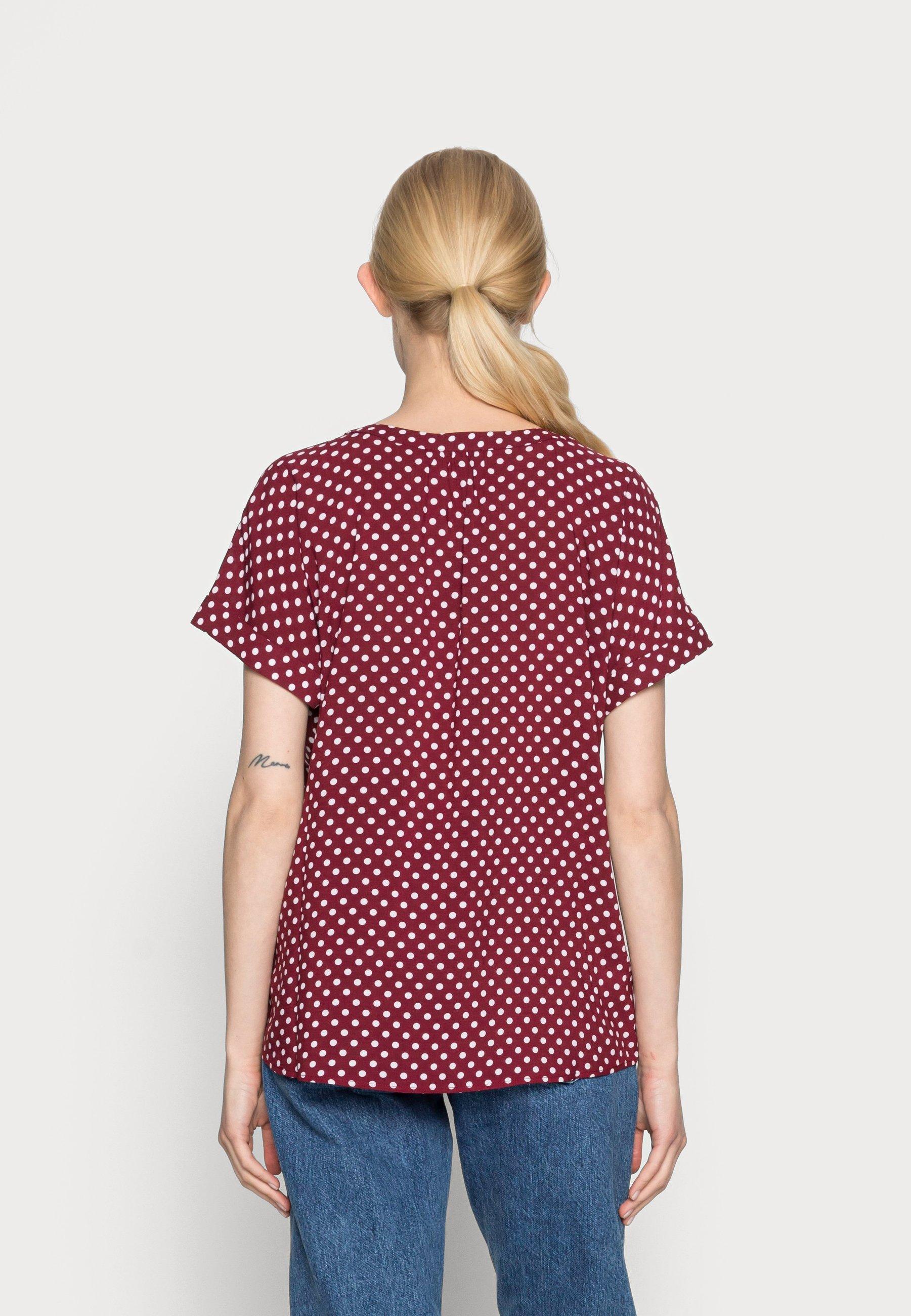 Women Print T-shirt - dark cherry