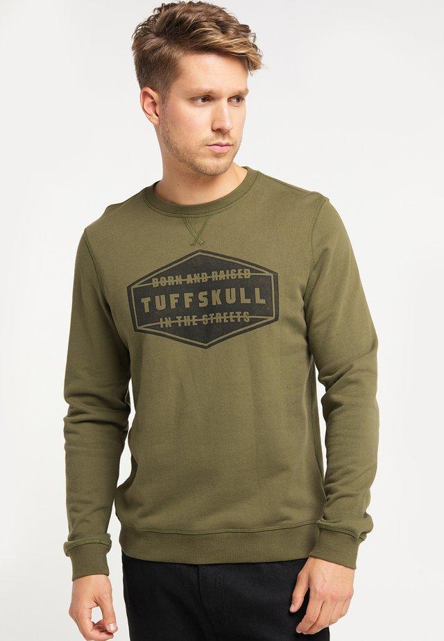 TUFFSKULL  - Trui - olive