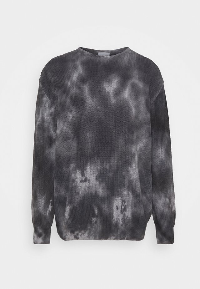 SWEATER TIE DYE - Trui - black