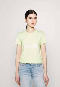 Levi's® - THE PERFECT TEE - T-shirt imprimé - circle logo shadow lime - 0