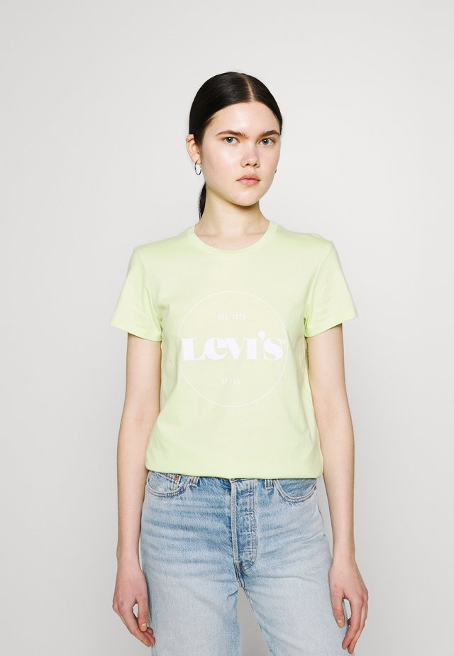 THE PERFECT TEE - Print T-shirt - circle logo shadow lime