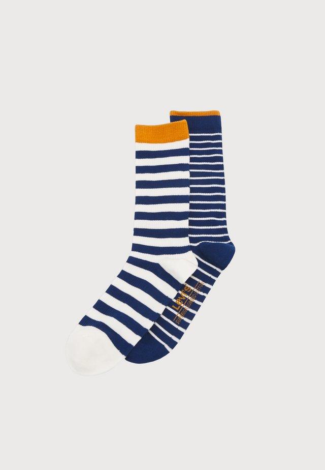 BRETON STRIPE REGULAR CUT 2 PACK UNISEX - Socks - blue/white
