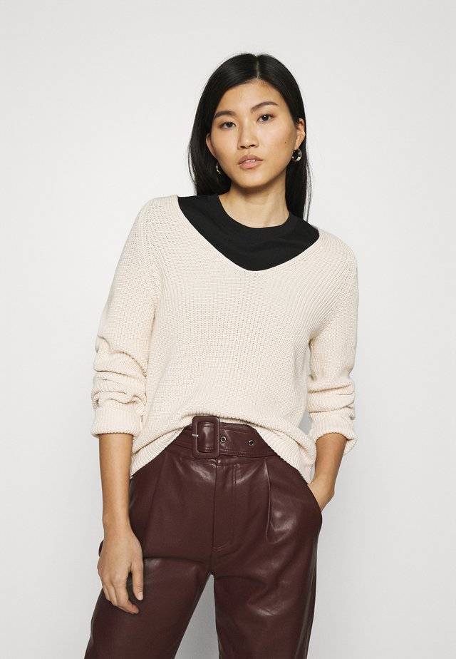 LONG SLEEVE - Sweter - natural white