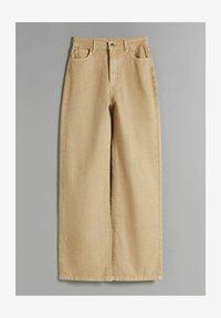 WIDE LEG - Flared Jeans - camel