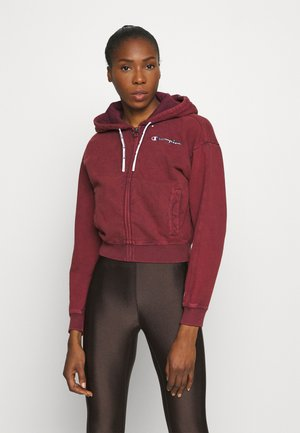 HOODED FULL ZIP - Collegetakki - pink