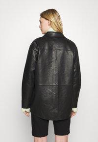 Holzweiler - FLORA JACKET  - Leather jacket - black - 2