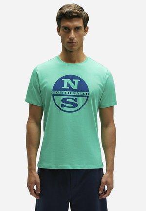 Print T-shirt - green 0409