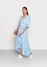 Esqualo - DRESS WRAP SUMMER SHADOW - Maxikjoler - light blue - 1