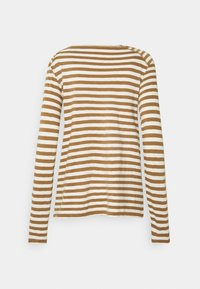 Marc O'Polo DENIM - LONGSLEEVE ROUNDNECK - Long sleeved top - multi/cinnamon bun - 1