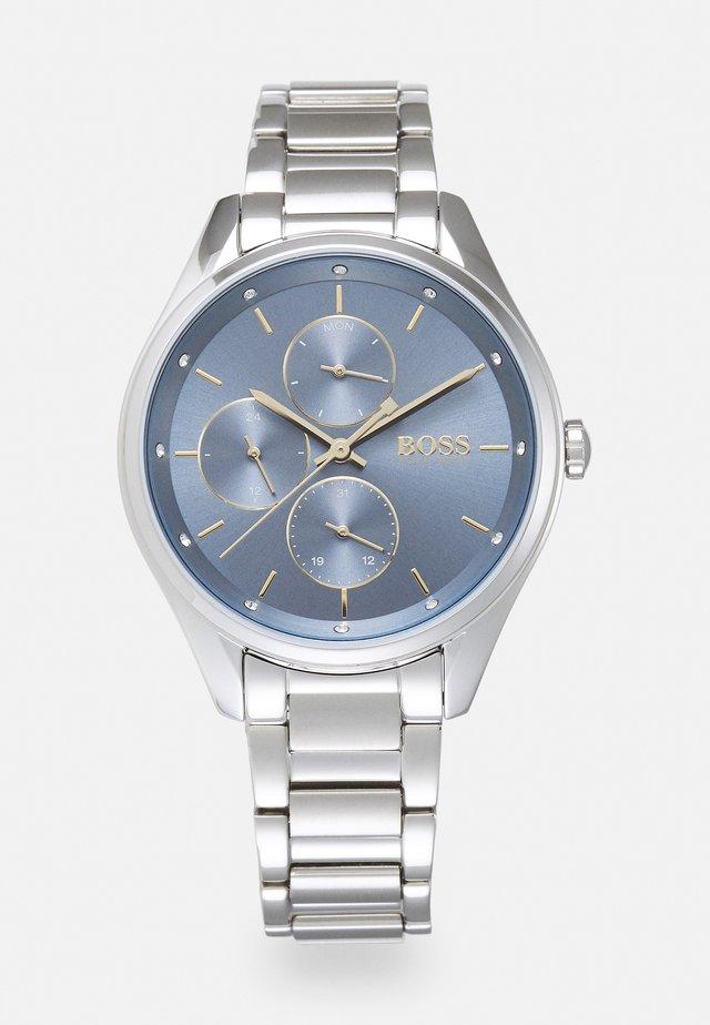 GRAND COURSE - Klokke - silver-coloured/blue