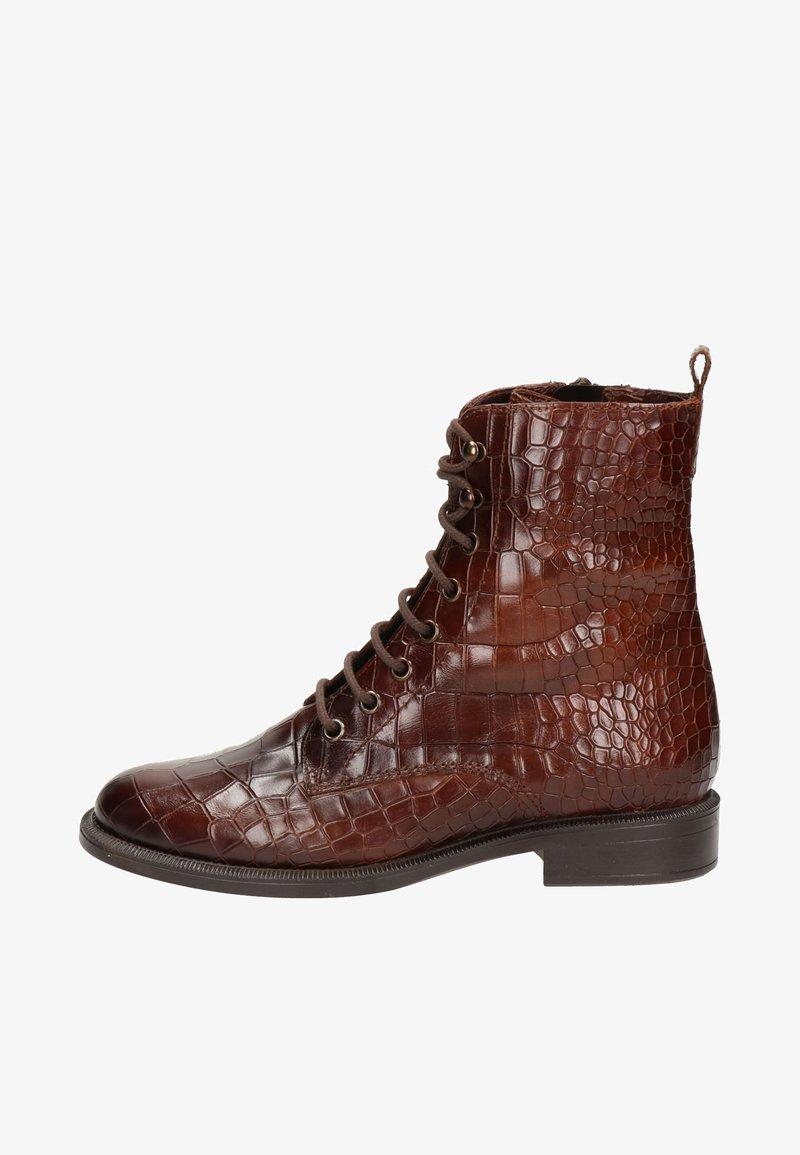 Nelson - Lace-up ankle boots - cognac