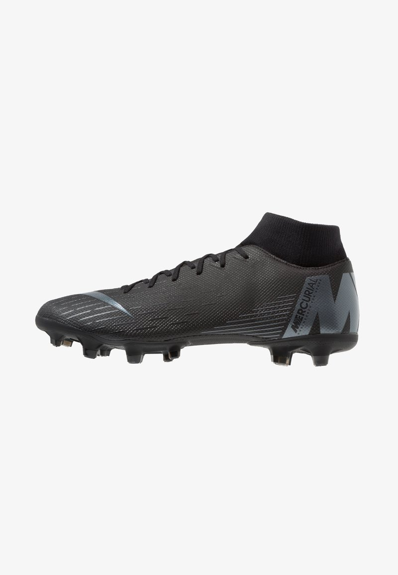 Nike Performance - MERCURIAL 6 ACADEMY MG - Moulded stud football boots - black/anthracite/light crimson