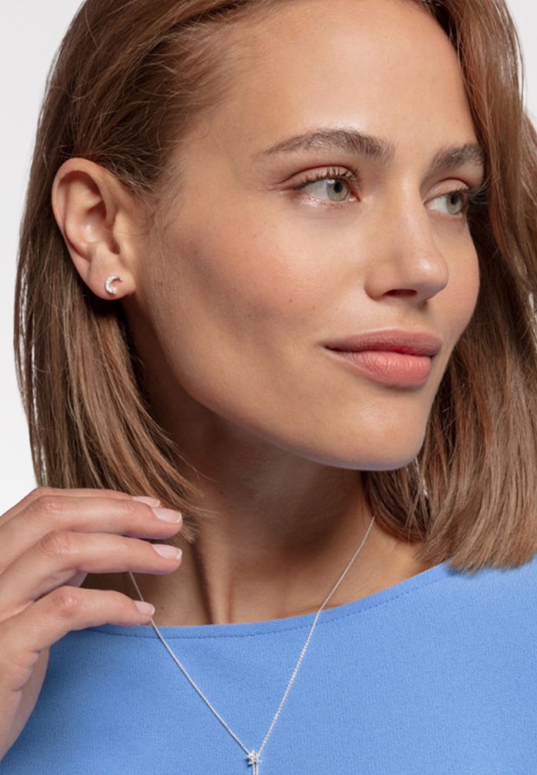 THOMAS SABO - MOND - Earrings - white/silver-coloured