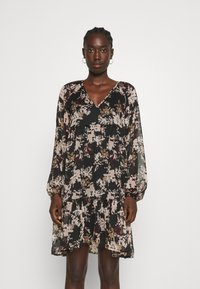 Vero Moda - VMFRIDA V NECK SHORT DRESS - Day dress - black - 0