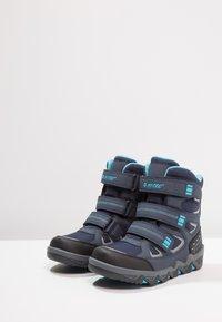 Hi-Tec - THUNDER WP  - Hiking shoes - navy/turquoise/black - 3