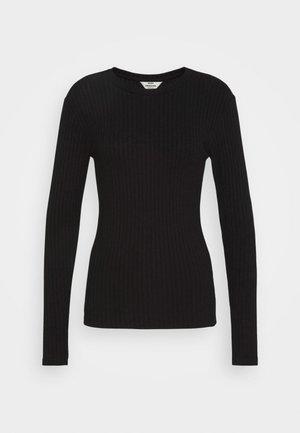 SOLID TUBA - Long sleeved top - black