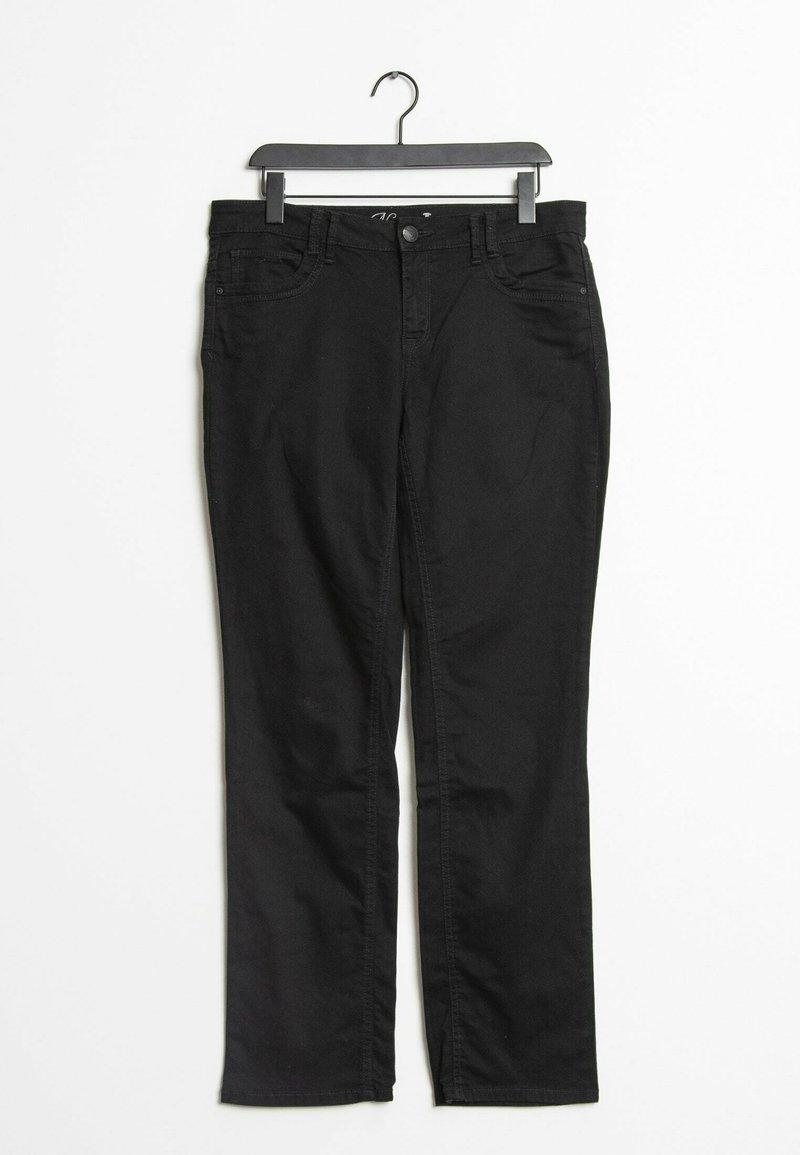 TOM TAILOR - Trousers - black