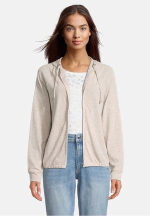 Zip-up sweatshirt - light beige