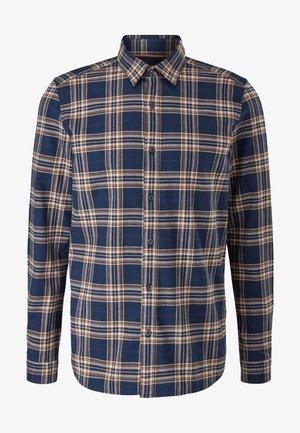 SLIM: - Shirt - dark blue check