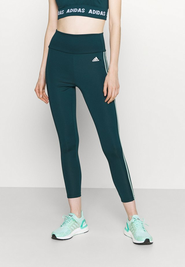 Leggings - wild teal/hazy green/white