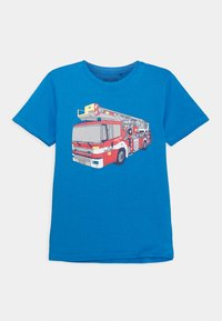 Blue Seven - BOYS DIGGER FIRETRUCK PACK 3 - T-shirt z nadrukiem - red/blue/yellow - 3