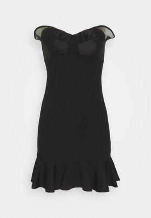 MIX MINI DRESS - Vestito estivo - black