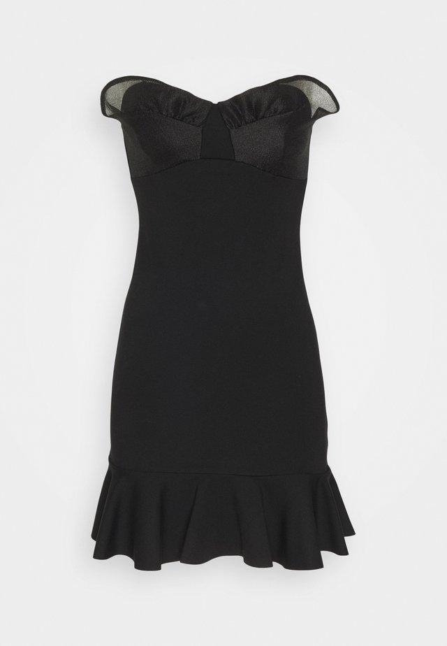MIX MINI DRESS - Vestito estivo - black