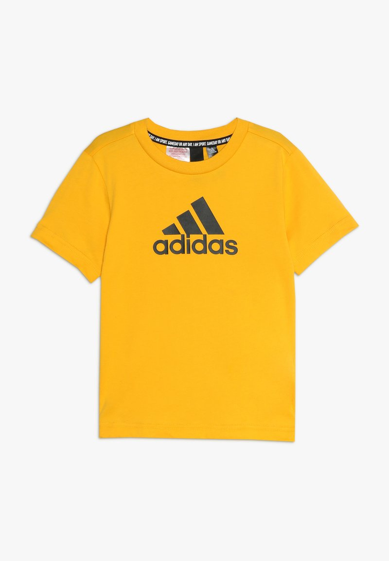 adidas Performance - UNISEX - T-shirt print - active gold/black