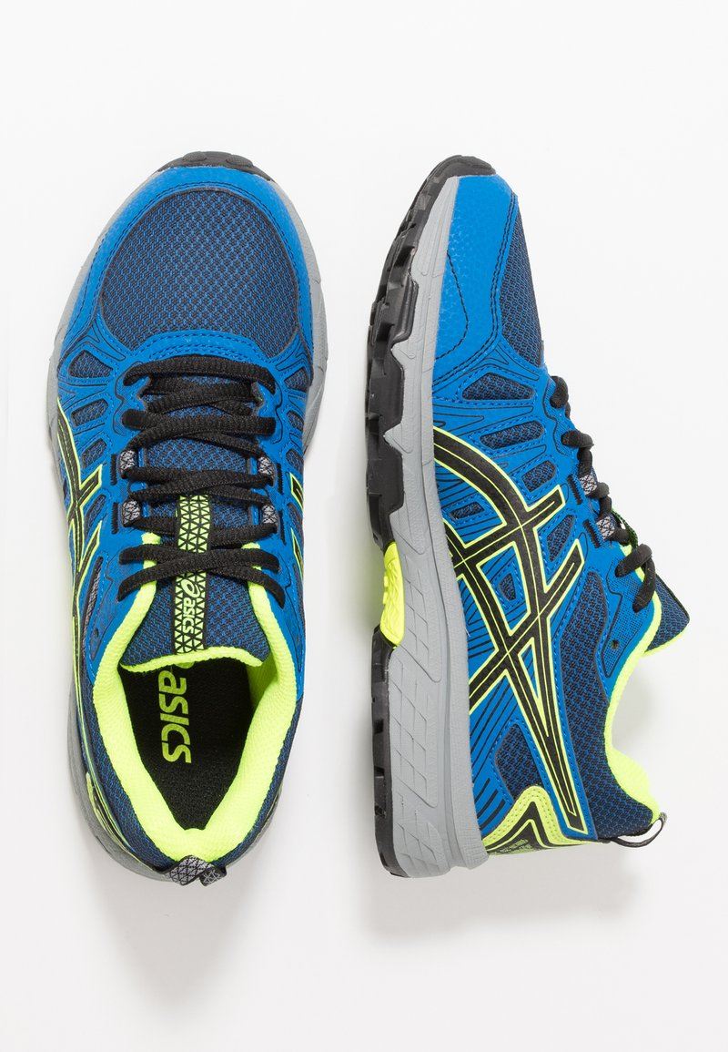ASICS - GEL-VENTURE 7 - Trail running shoes - black/safety yellow