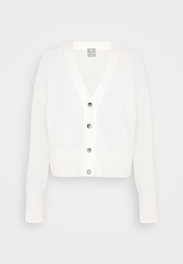 Strickjacke - pristine white