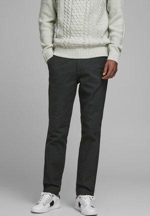 FISCHGRÄTENMUSTER - Pantaloni - dark grey