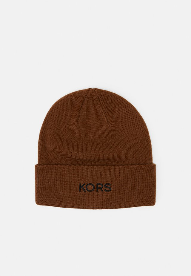 EMBROIDERED CUFF HAT UNISEX - Czapka - caramel/ black