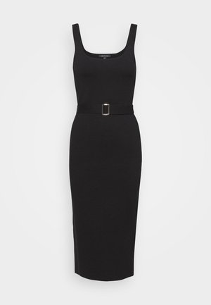 OPEN NECK DRESS - Etuikjole - black