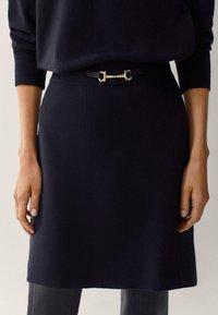 Massimo Dutti - Mini skirt - black - 0