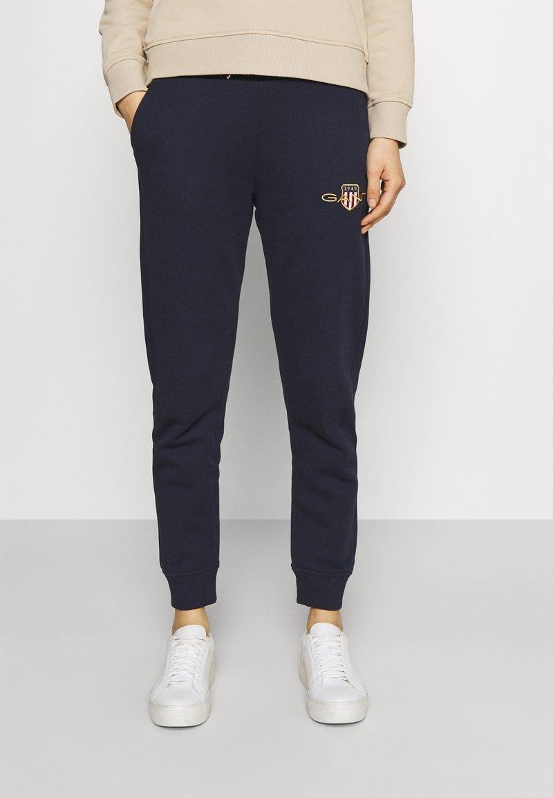 GANT - ARCHIVE SHIELD PANT - Pantalon de survêtement - evening blue