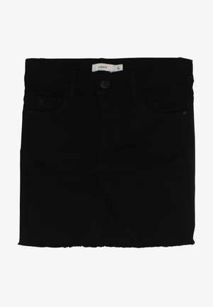 NKFSALLI SKIRT - Farkkuhame - black denim