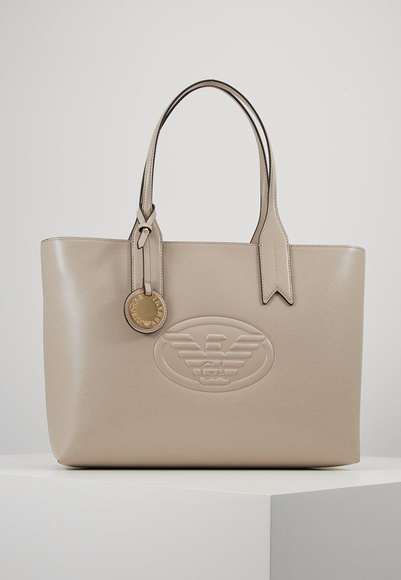 Emporio Armani - FRIDA ZIP EAGLE - Handbag - taupe
