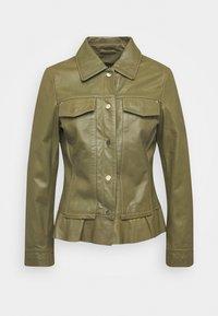 Ibana - NIGELA - Leather jacket - mossgreen - 0