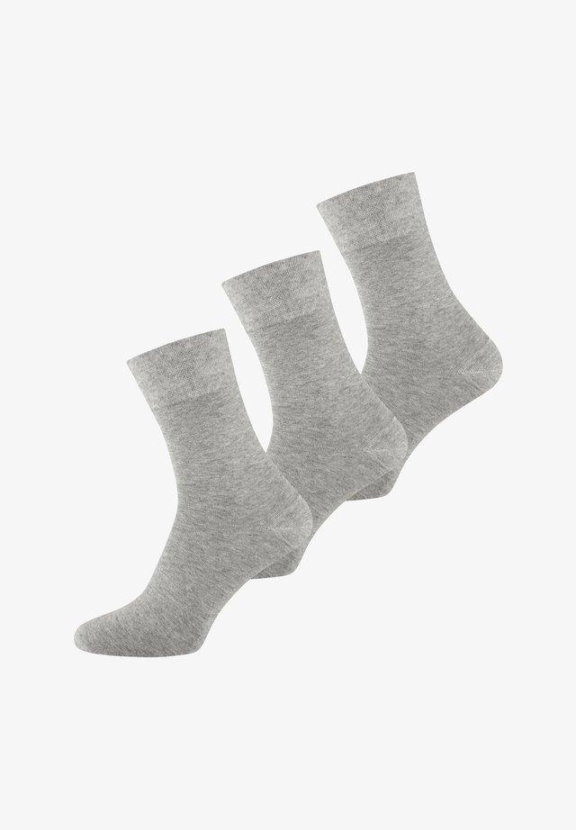 3 PACK  - Sokken - hellgrau melange
