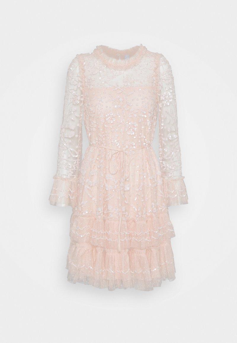 Needle & Thread - CELIA LONG SLEEVE MINI DRESS - Koktejlové šaty/ šaty na párty - strawberry icing