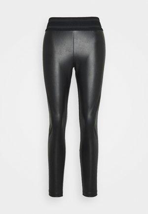 ONLSTAR FAUX - Leggings - Trousers - black