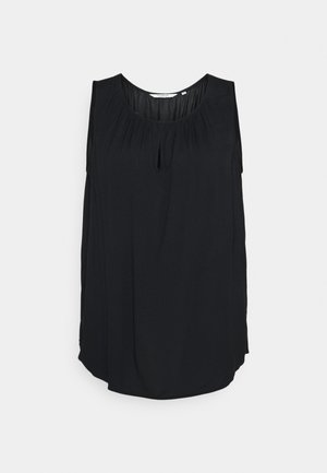 WITH FRONT SLIT - Camicetta - deep black