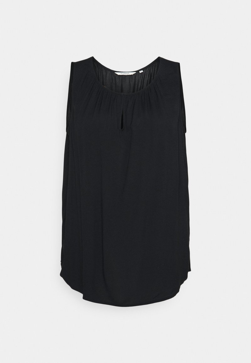 MY TRUE ME TOM TAILOR - WITH FRONT SLIT - Blouse - deep black