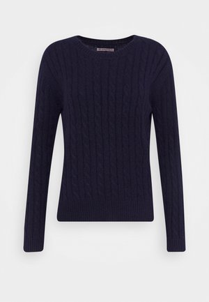 CABLE SPONGY JUMPER - Svetr - evening blue