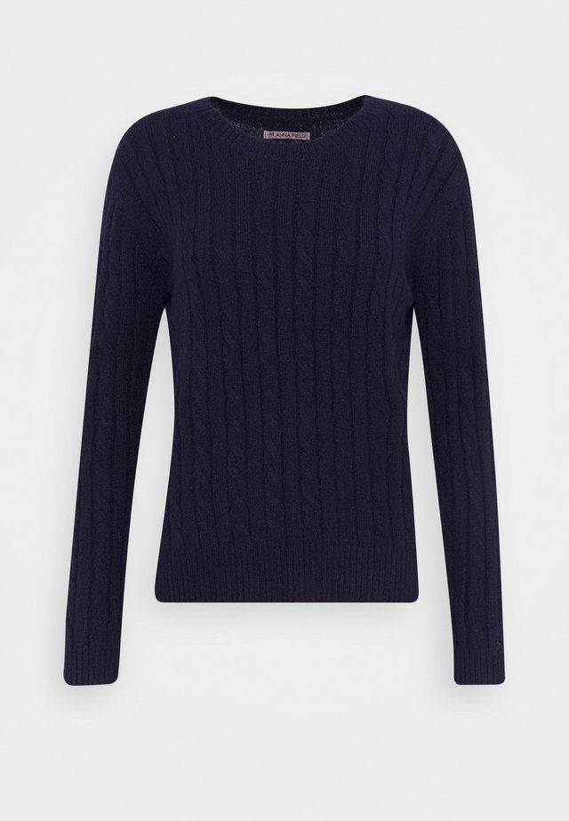 CABLE SPONGY JUMPER - Jumper - evening blue