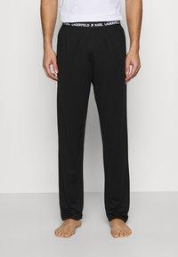 KARL LAGERFELD - LOGO TROUSER - Pyjama bottoms - black - 0